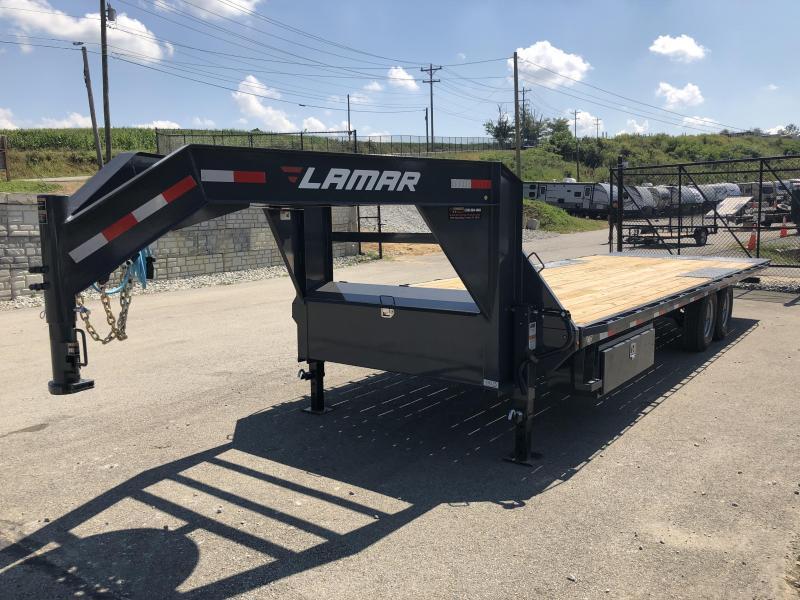 2019 Lamar GFA 102x26' Gooseneck Deckover Tilt Trailer 14000# GVW * 14-PLY TIRES & SPARE * OIL BATH * CHARCOAL POWDERCOAT & MORE
