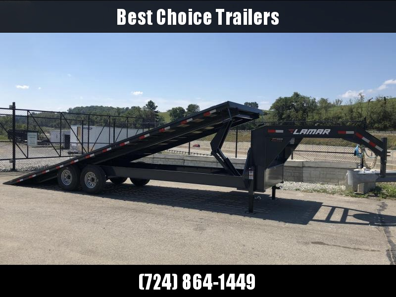 2019 Lamar GFA 102x26' Gooseneck Deckover Tilt Trailer 14000# GVW * 14-PLY TIRES & SPARE * OIL BATH * CHARCOAL POWDERCOAT & MORE