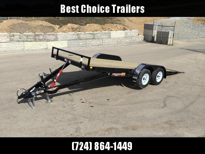 2018 H&H 7x18' MX Manual Tilt Car Hauler 7000# GVW * ALUMINUM WHEELS