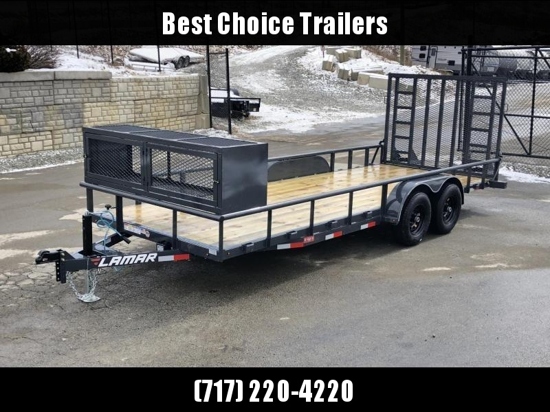 2019 Lamar 7x20' Pipe Top Channel Frame Utility Landscape Trailer 9990# GVW * UC832025-LS * TOOLCAGE * ADJUSTABLE COUPLER * DROP LEG JACK * PIPE TOP * UTV HAULER * COMMERCIAL LANDSCAPER * 5' GATE UPGRADE in Ashburn, VA