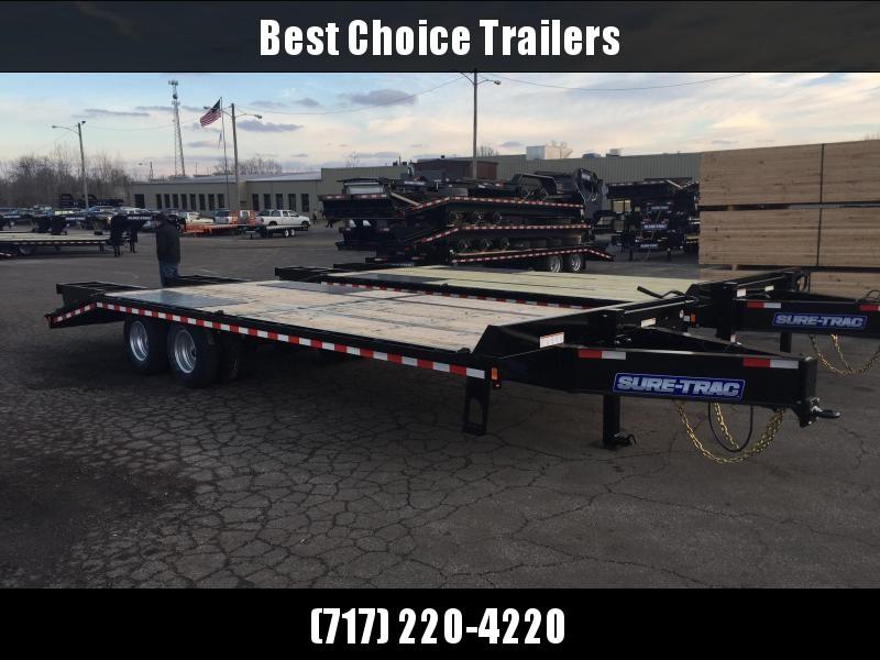 2018 Sure-Trac 102x20+5 22K Pintle Beavertail Deckover Trailer Pierced Frame OAK DECK & RAMPS PAVER TRAILER