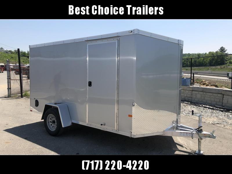 2019 Neo 6x12' NAVF Aluminum Enclosed Cargo Trailer * RAMP DOOR * SILVER * ALUMINUM WHEELS