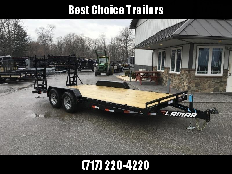 2019 Lamar 7x18' 9990# Lowboy Equipment Trailer * DROP LEG JACK * ADJUSTABLE COUPLER