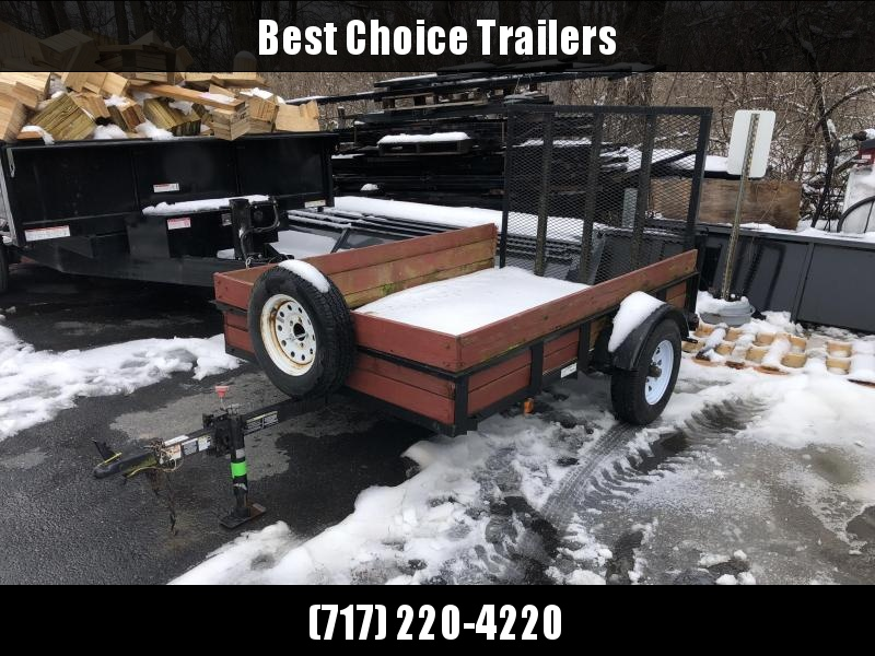 USED Carry-On 5x8 Utility Trailer * Spare tire * Wood Sides * Wood Floor * Swivel Jack