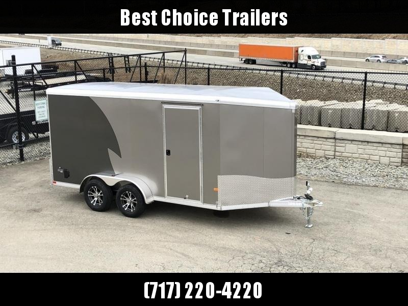 "2019 NEO Trailers 7X14' NAMR Aluminum Enclosed Motorcycle Trailer * CHARCOAL & PEWTER * VINYL WALLS * ALUMINUM WHEELS * +6"" HEIGHT in Ashburn, VA"