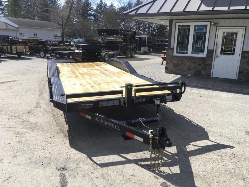 "2019 Ironbull 102x24' Lowboy Equipment Trailer 14000# GVW * FULL WIDTH RAMPS * 102"" DECK * DRIVE OVER FENDERS * 8"" FRAME UPGRADE"