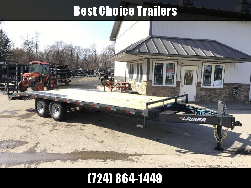 2018 Lamar F8 102x22' Beavertail Deckover Trailer 14000# GVW  * CLEARANCE - FREE ALUMINUM WHEELS