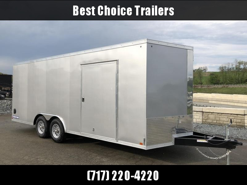 2017 Sure-Trac 8.5x20' Enclosed Car Trailer 9900# GVW * ESCAPE HATCH * SILVER