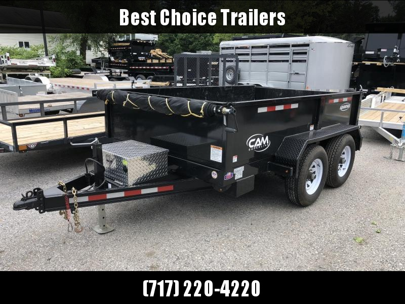 USED 2017 Cam Superline 6X10' 9990# GVW Dump Trailer * TARP KIT * ADJUSTABLE COUPLER * DROP LEG JACK * 110V CHARGER *  2-WAY GATE