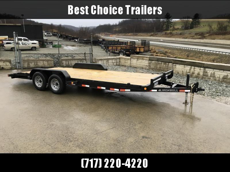 2018 Iron Bull 7x20' Wood Deck Car Trailer 14000# GVW