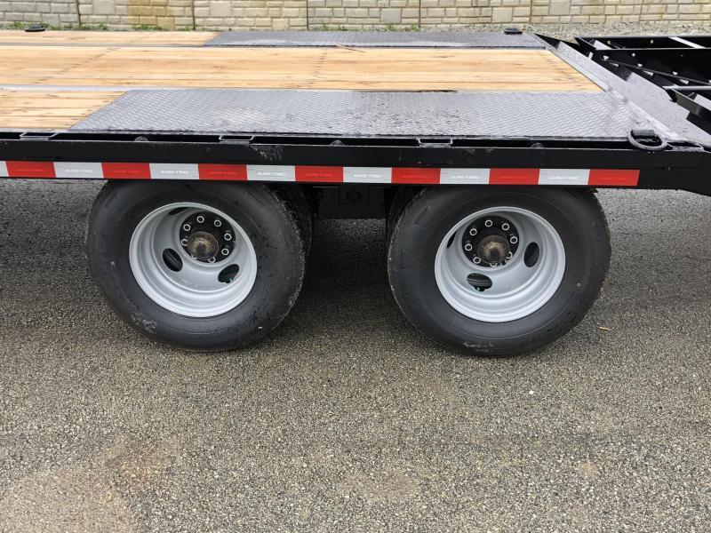 2019 Sure-Trac 102x20+5' HD LowPro Beavertail Deckover 25900# GVW * 12000# AXLES * DUAL JACKS * CHAIN TRAY * PIERCED FRAME