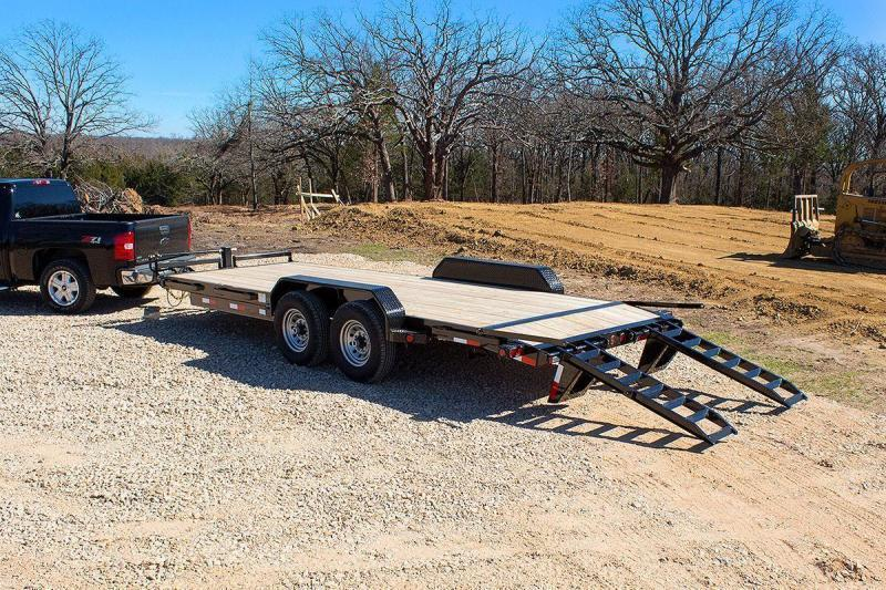 2018 Ironbull 7x22' Lowboy Equipment Trailer 14000# GVW * Stand Up Ramps * CLEARANCE - FREE ALUMINUM WHEELS