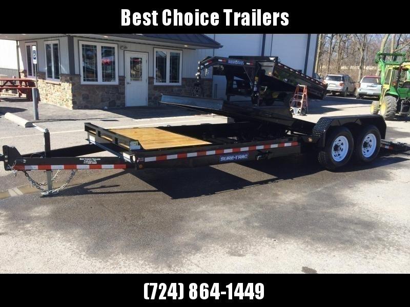 Best Composite Decking 2020 2020 Sure Trac 7x18+4' Tilt Bed Equipment Trailer 14000# GVW * OAK