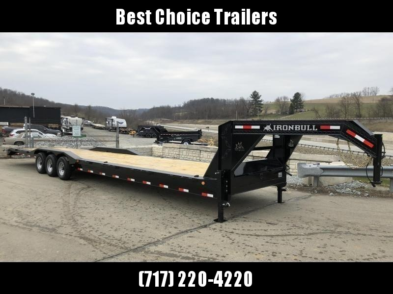 "2019 Ironbull 102x40' Gooseneck Car Hauler Equipment Trailer 21000# * 102"" DECK * DRIVE OVER FENDERS * 4' DOVETAIL"