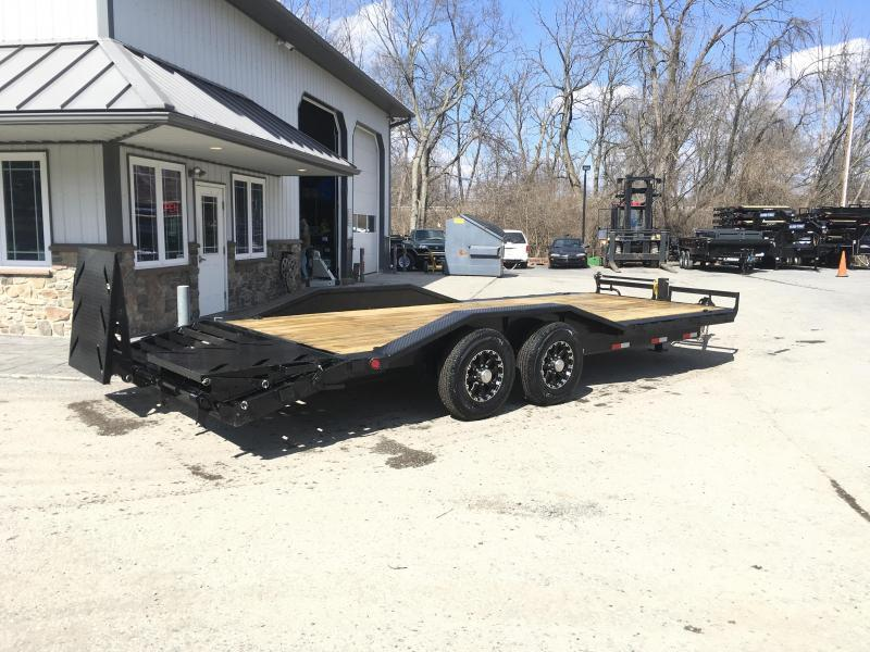 "2018 Ironbull 7x22' Lowboy Equipment Trailer 14000# GVW * FULL WIDTH RAMPS * 102"" DECK * DRIVE OVER FENDERS"