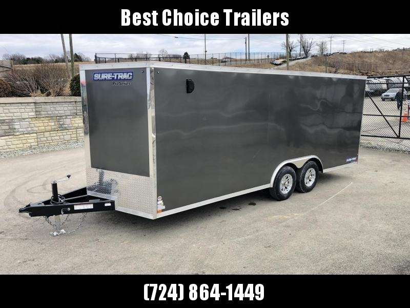2019 Sure-Trac 8.5x24' Enclosed Car Trailer 9900# GVW * CHARCOAL * 7K DROP LEG JACK