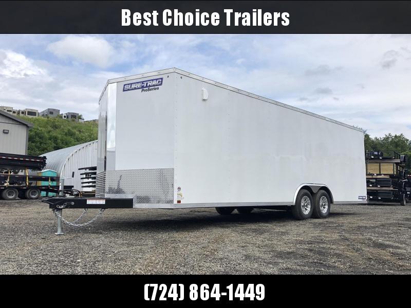 2019 Sure-Trac 8.5x24' Enclosed Car Trailer 9900# GVW * WHITE