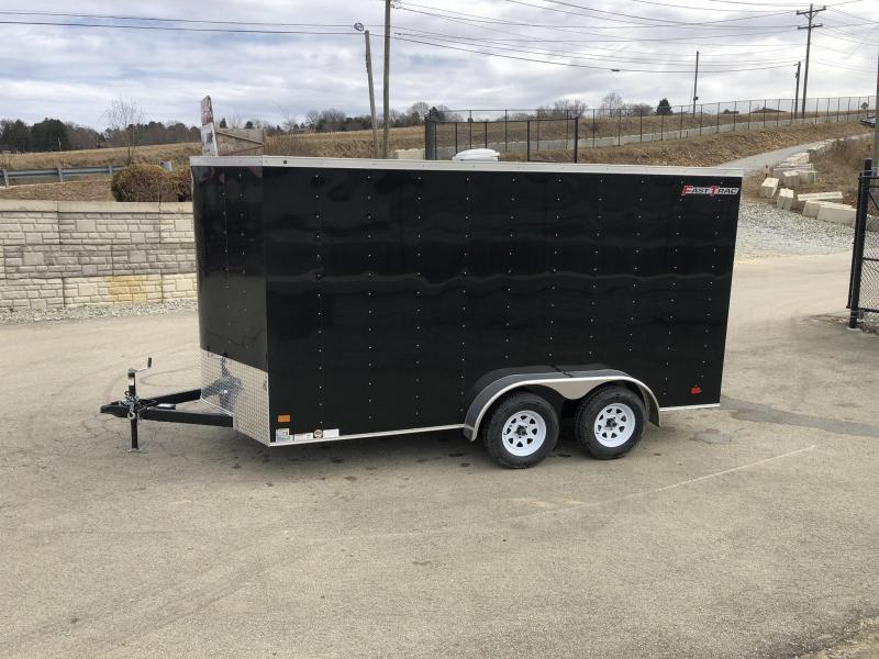 2019 Wells Cargo 7x14' Fastrac Enclosed Cargo Trailer 7000# GVW * SILVER * RAMP DOOR * V-NOSE * 7' HEIGHT * ROOF VENT