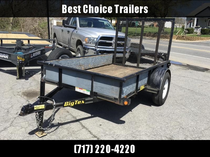 USED 2011 Big Tex 5x8' Tube Top Utility Landscape Trailer 2990# GVW * SPARE TIRE * PIPE TOP * TUBE IN GATE