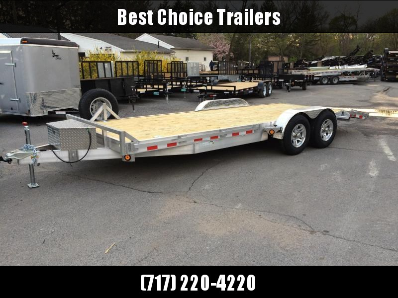 2017 QSA 7x20' Aluminum Car Trailer 9850# GVW * TORSION * ALUMINUM WHEELS