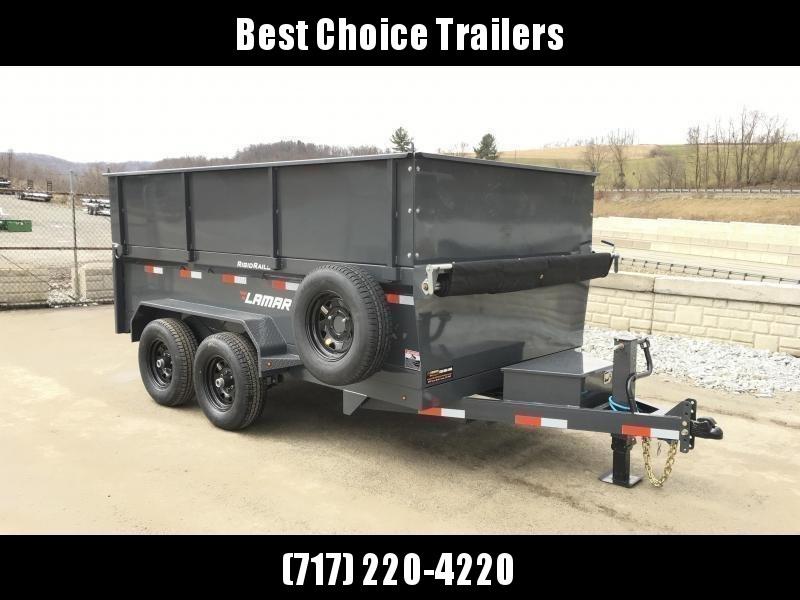 2018 Lamar DM10 77x12' 9990# Low Profile Dump Trailer 4' HIGH SIDES * 12K JACK * TARP KIT  * ADJUSTABLE COUPLER * CHARCOAL * SPARE TIRE & MOUNT in Ashburn, VA