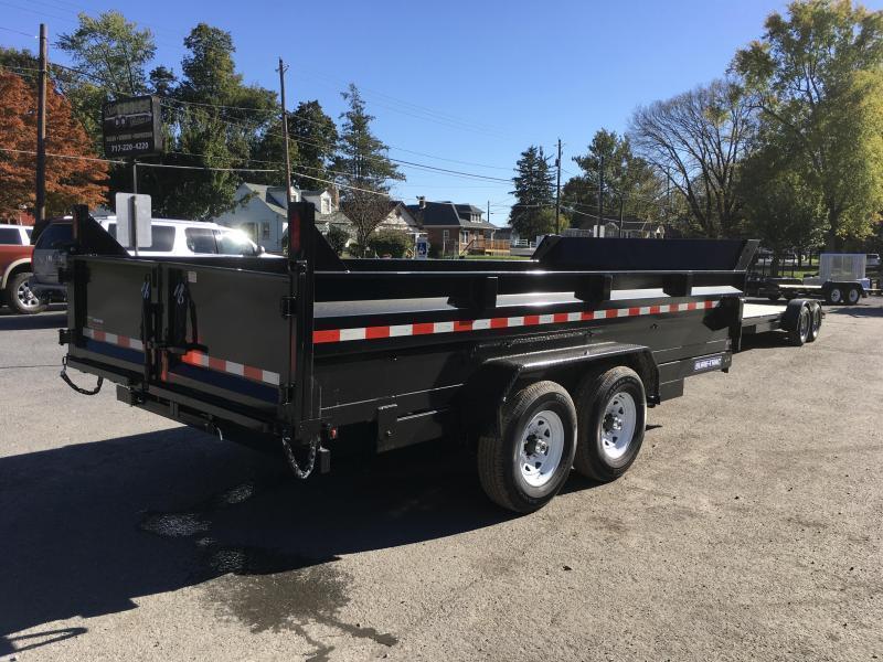 2018 Sure-Trac 7x16' HD LowPro Dump Trailer 14000# GVW - SCISSOR HOIST