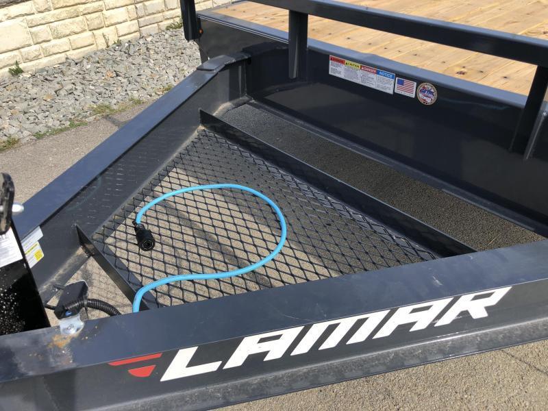 2019 Lamar F8 102x24' Beavertail Deckover Trailer 16000# GVW * 8K AXLES * FLIPOVER RAMPS * OIL BATH * CHARCOAL * 14 PLY TIRES