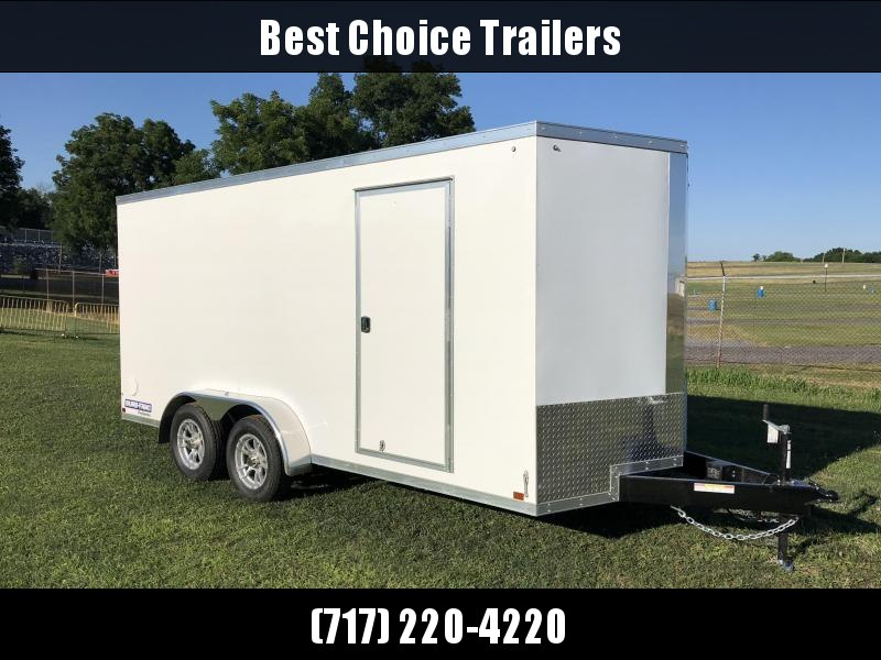 2018 Sure-Trac 7x16' Enclosed Cargo Trailer 7000# GVW * WHITE * CLEARANCE