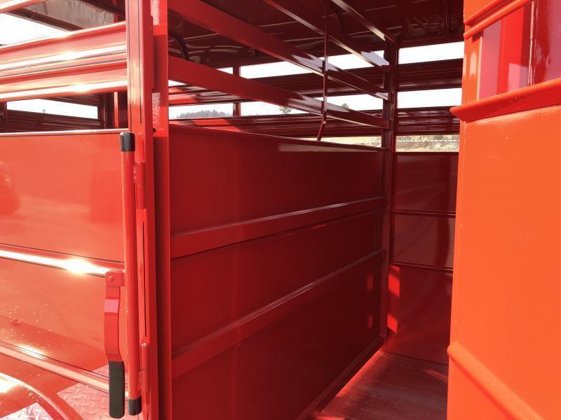 2019 Delta Manufacturing 500ES 12' Livestock Trailer * RED