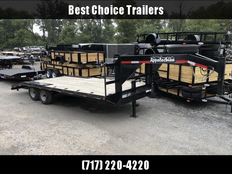 USED 2018 Appalachian 102x20' Gooseneck Flatbed Trailer * POP UP DOVETAIL * EXTRA TIE DOWNS * SPARE TIRE in Ashburn, VA