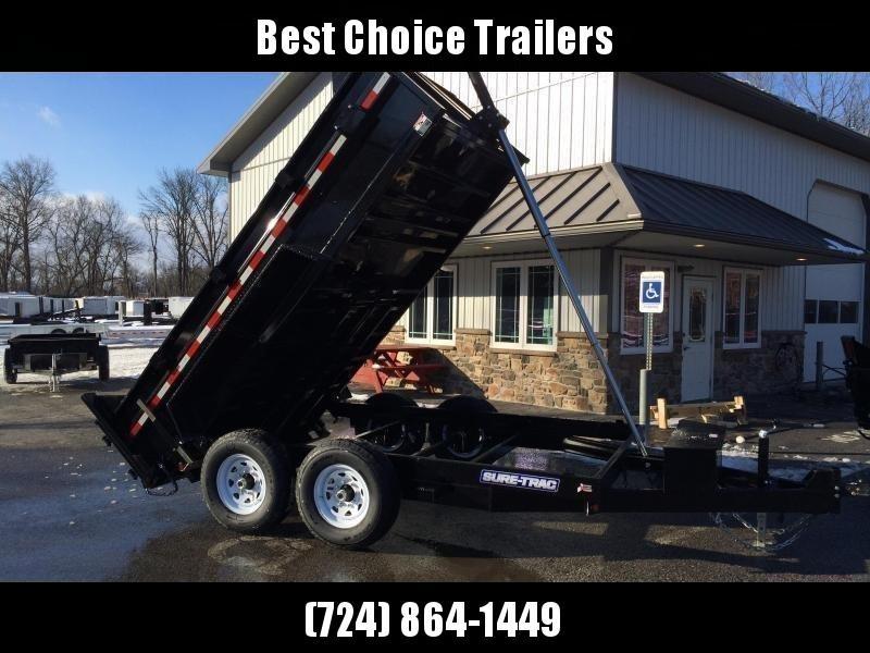 2018 Sure-Trac 7x12' LowPro Dump Trailer 12000# GVW - TELESCOPIC HOIST