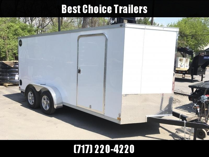 "2018 Wells Cargo 7x16' VG500 Enclosed Cargo Trailer 7000# GVW * WHITE * 6'6"" HEIGHT"