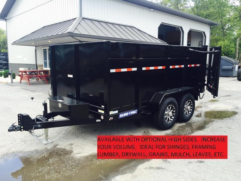 2019 Sure-Trac 5x10' Dump Trailer 7000# GVW - LANDSCAPE GATE * FREE ALUMINUM WHEELS