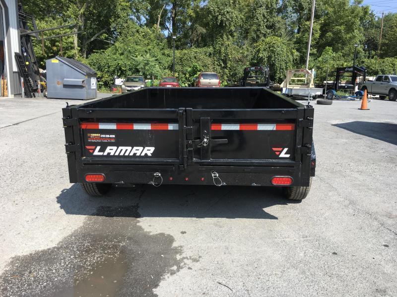 2019 Lamar 77x10' Dump Trailer 9990# GVW * TARP * RAMPS * SPARE MT * 10K JACK * CHARCOAL