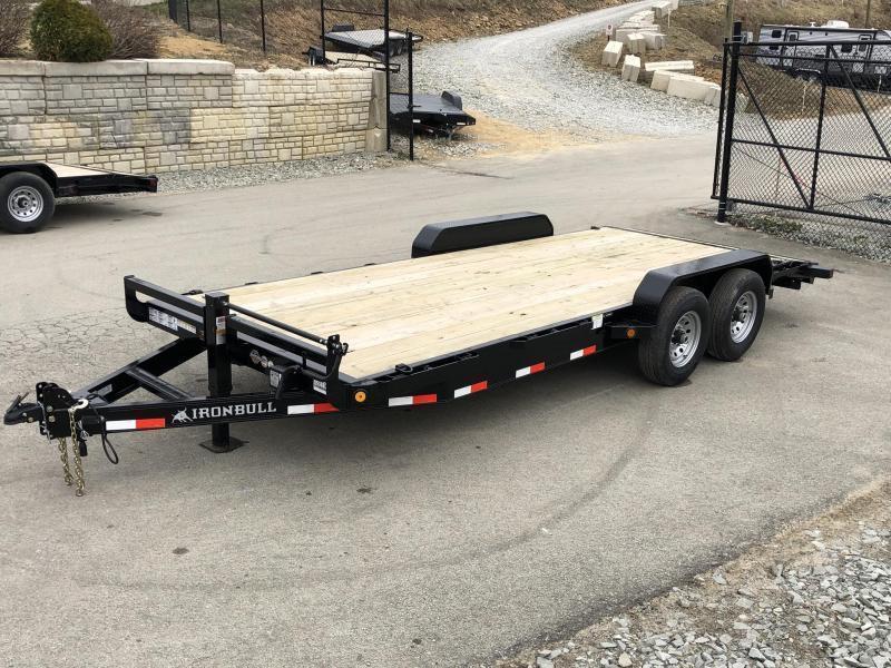2019 Iron Bull 7x22' Wood Deck Car Trailer 14000# GVW