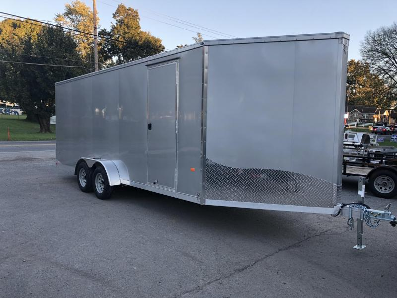 """2019 Neo 7x24' Aluminum Enclosed Snowmobile All-Sport Trailer * FRONT RAMP * NXP LATCHES * FLOOR TIE DOWN SYSTEM * REAR JACKSTANDS * UPGRADED 16"""" OC FLOOR * UPPER CABINET * 7' HEIGHT UPGRADE * 16"""" OC WALLS"""