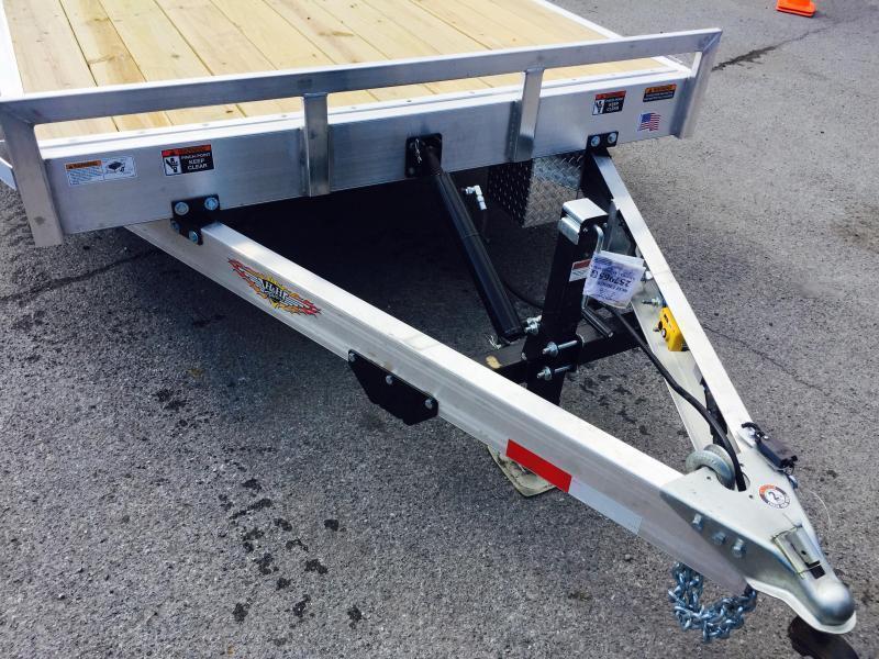 2019 H&H 7x18' 7000# Aluminum Power Tilt Car Hauler * POWER TILT * ALUMINUM TOOLBOX