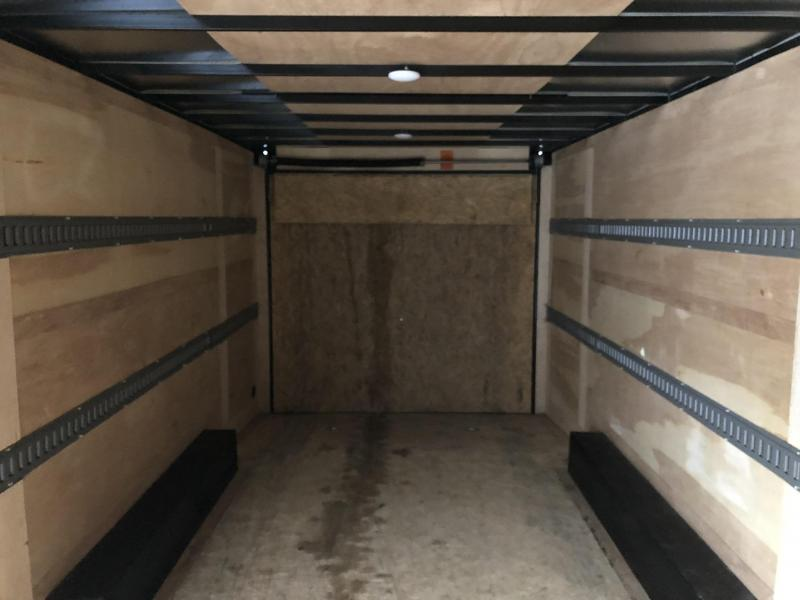 USED 2016 Sure-Trac 8.5x20' Enclosed Car Hauler Trailer 9900# GVW * ROUNDED V-NOSE * LOTS OF E-TRACK TIE DOWNS * 7' INTERIOR HEIGHT * SPARE TIRE