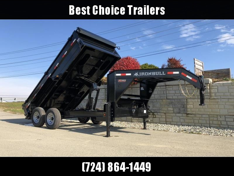2019 Iron Bull 7x14' Gooseneck Dump Trailer 14000# GVW * CLEARANCE - FREE ALUMINUM WHEELS in Ashburn, VA