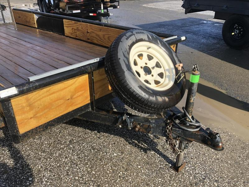 USED Carry-On 7x16 Trade In Utility Trailer 7000# * SPARE TIRE * REVERSE LIGHTS * PIPE TOP