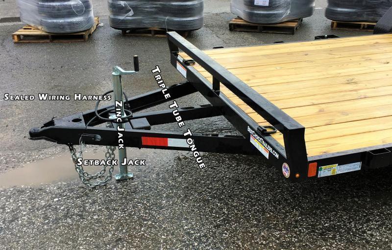 2019 Sure-Trac 7x20' 9900# Wood Deck Car Hauler
