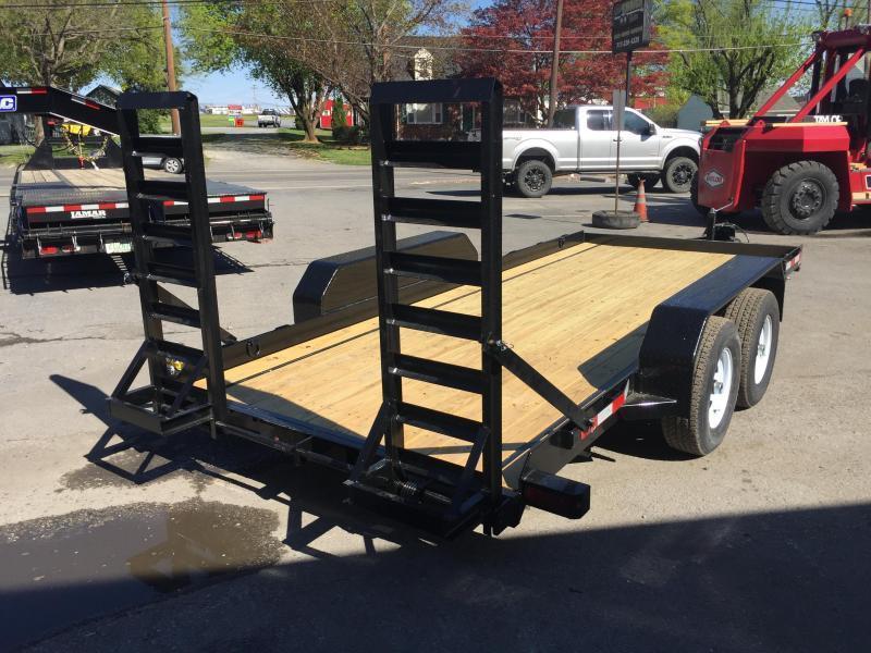 2018 Sure-Trac 7'x16' Skidsteer Equipment Trailer 9900# LOW LOAD ANGLE * ADJUSTABLE COUPLER
