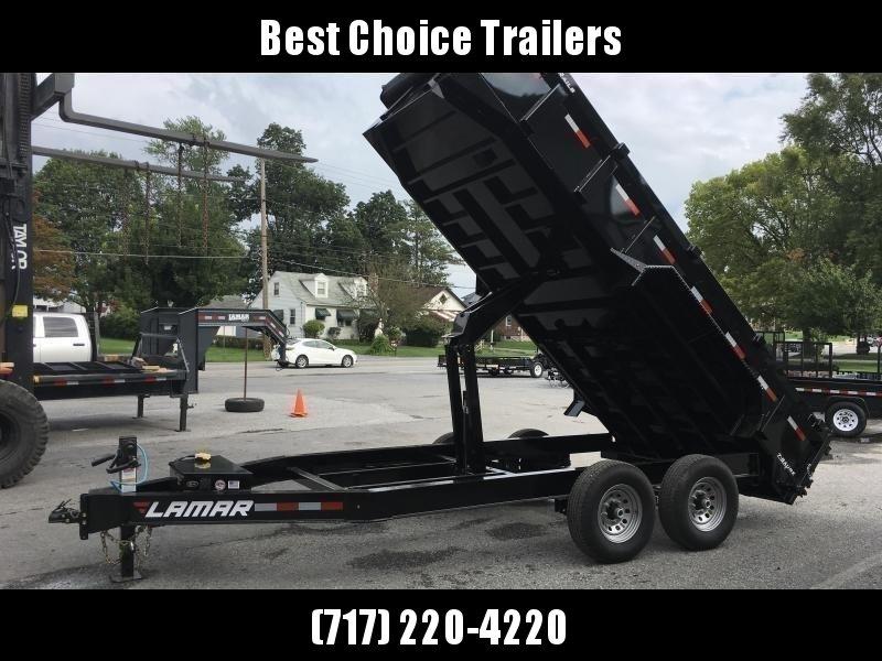 2019 Lamar 7x16' Dump Trailer 14000# GVW * TARP KIT *  RAMPS * 12K JACK * 7 GAUGE FLOOR * I-BEAM FRAME * CHARCOAL * 14-PLY RUBBER in Ashburn, VA
