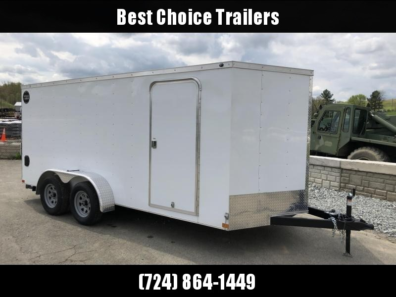 2018 Wells Cargo 7x16' VG300 Enclosed Cargo Trailer 7000# GVW * WHITE * CLEARANCE - FREE ALUMINUM WHEELS