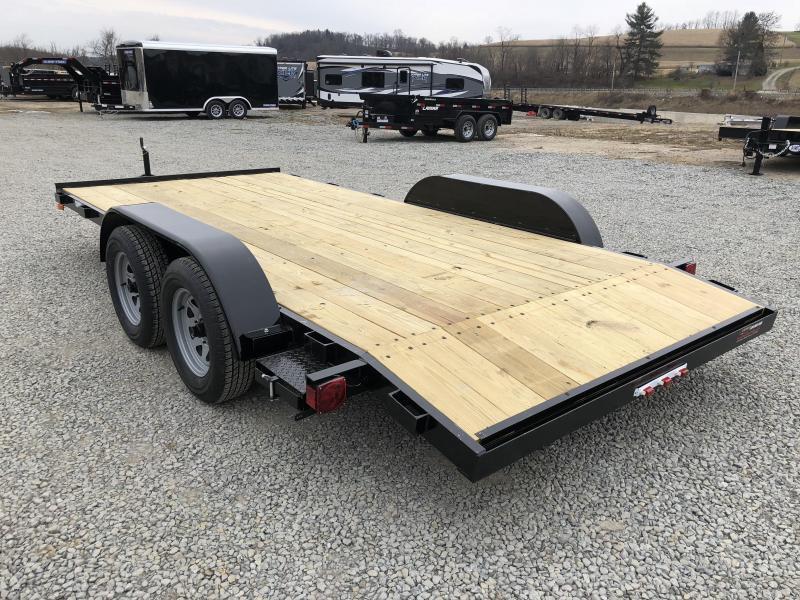 2018 AMO 7x16' Wood Deck Car Trailer 7000# GVW * BLACK FRIDAY SPECIAL