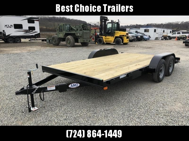 2018 AMO 7x16' Wood Deck Car Trailer 7000# GVW * CLEARANCE