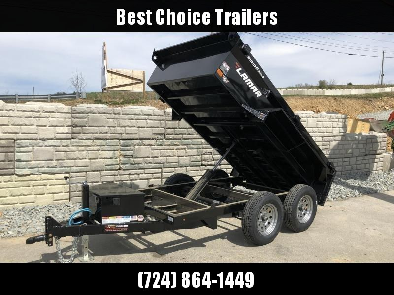 2019 Lamar 5x10' Tandem Axle DS60 Dump Trailer 7000# GVW - STANDARD * SPARE MOUNT * RAMPS * CHARCOAL W/ BLACK WHEELS