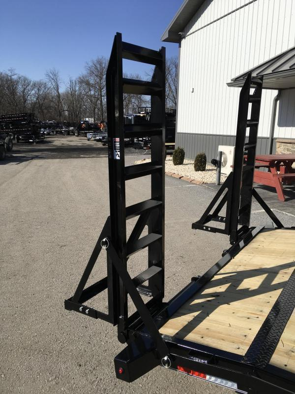 """2018 Lamar 7x18' Equipment Trailer 14000# GVW - Stand Up ramps * 16"""" O.C * 4 D-rings * CLEARANCE PRICED"""