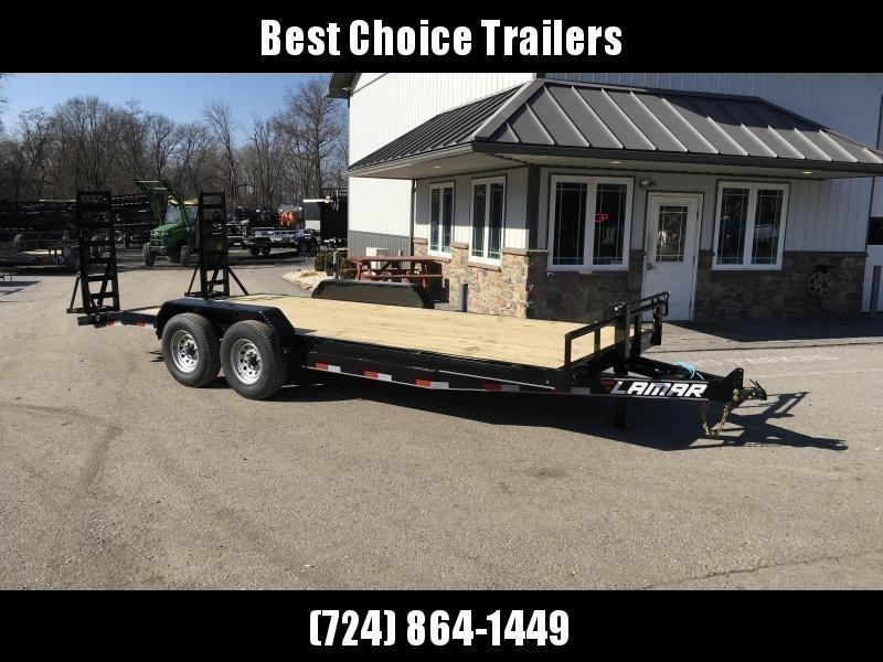 "2018 Lamar 7x18' Equipment Trailer 14000# GVW - Stand Up ramps * 16"" O.C * 4 D-rings"