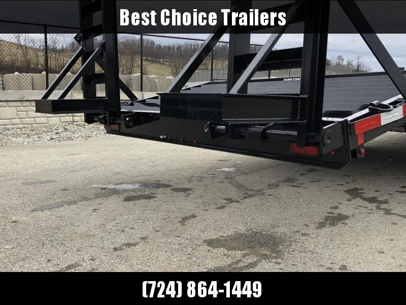 """2019 Sure Trac 18+4' Beavertail Deckover Trailer 15000# * ST102184SDDO-B-150 * 4"""" CHANNEL STAND UP RAMPS"""